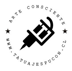 logo tatuajes pucon minimal black 2016